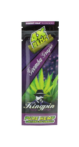 Kingpin Goomba Grape Hemp Wraps (1 Count, 4 Total) High Hemp Herbal FRESH