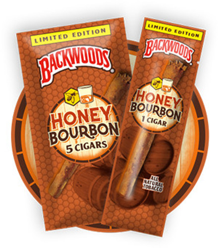 Backwoods Honey Bourbon Cigars (8 Packs of 5) - Natural