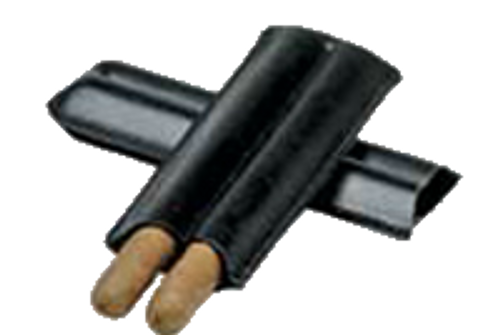 Black 2-Cigar Case (Bonded Leather)