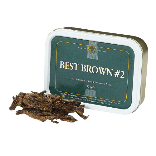 Gawith & Hoggarth Best Brown No. 2 Pipe Tobacco | 1.75 OZ TIN
