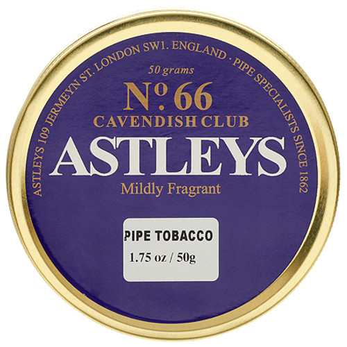 Astleys No. 66  Cavendish Club Pipe Tobacco   1.75 OZ TIN