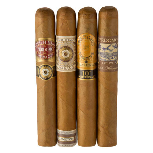 Cigar Samplers Perdomo 4-Pack Humidified Connecticut Sampler (Pack of 4)