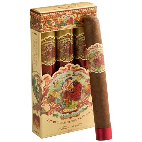 My Father Flor de Las Antillas Tubo Cigars - 6 x 50 (Pack of 3)