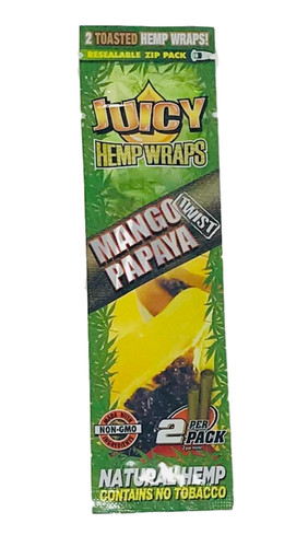 Juicy Jay's Mango Papaya Flavored Hemp Wraps - 1 Pack (2 Wraps)