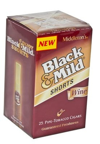 Black and Mild Shorts Wine Cigars (Box of 25) - Natural