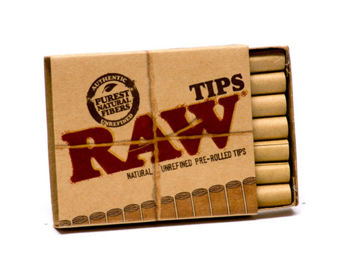 Raw Classic Pre-Rolled Tips (Box of 20) FRESH Juicy Hemp Rolling Papers