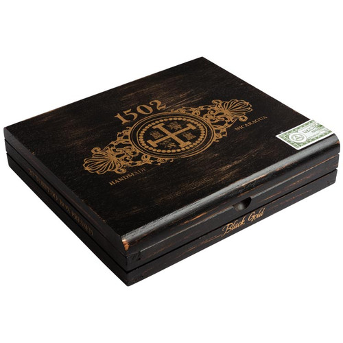 1502 Black Gold Torpedo Box Pressed Cigars - 6.5 x 52 (Box of 20)