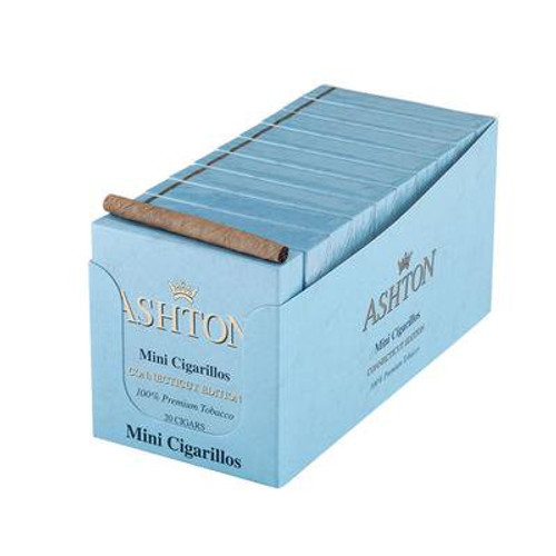 Ashton Mini Cigarillos Connecticut Cigars - 3.25 x 20 (10 Tins of 20 (200 Hundred Total))
