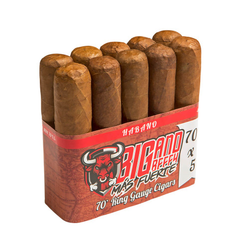 Big and Beefy Mas Fuerte No. 654 Cigars - 6.5 x 54 (Bundle of 10)
