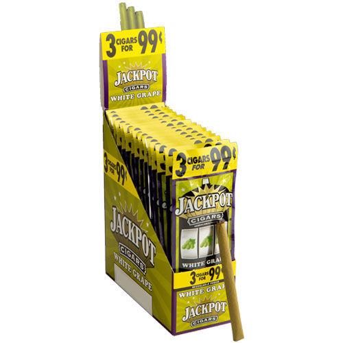 Jackpot Cigarillo White Grape Cigars - 4.69 x 28 (15 Packs of 3 (45 total))