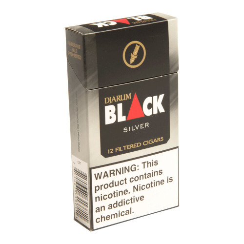 Djarum Filtered Cigars Silver Ultra Smooth Cigars - 3.5 x 20 (10 Packs of 12 (120 total))