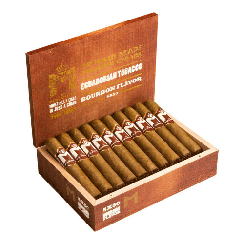 M Bourbon by Macanudo Robusto Cigars - 5.0 x 50 (Box of 20)