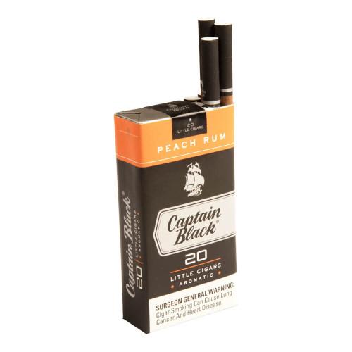 Captain Black Little Cigars Little Cigars Peach Rum Cigars - 3.75 x 20 (10 Packs of 20 (200 total))