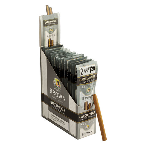 Garcia y Vega Natural Cigarillos Brown Cigars - 4.3 x 27 (15 Packs of 2 (30 total))