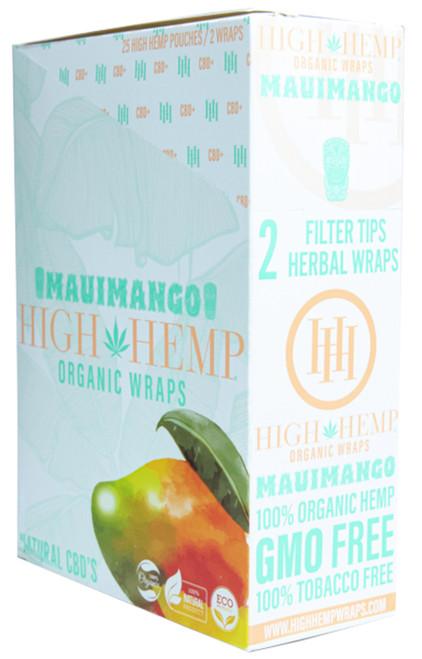 High Hemp Flavored Organic Hemp Wraps Maui Mango Box