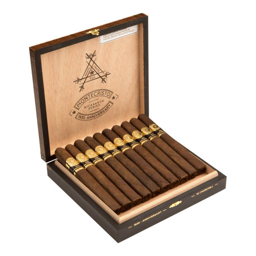 Montecristo 1935 Anniversary Nicaragua Churchill Cigars - 7.0 x 52 (Box of 10)