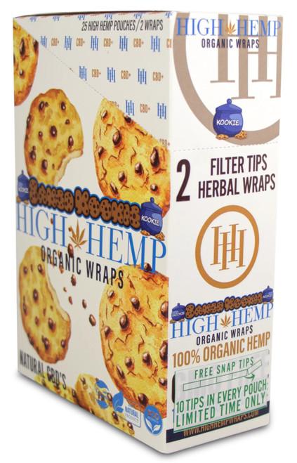 High Hemp Flavored Organic Hemp Wraps Baked Kookie Box