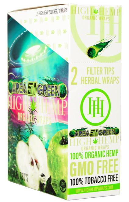 High Hemp Flavored Organic Hemp Wraps Area 51 Box