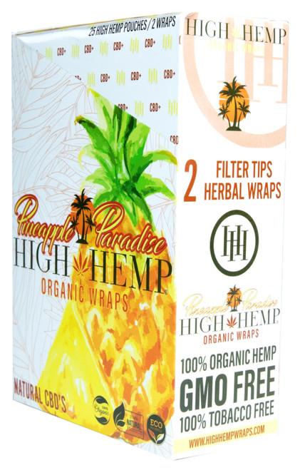 High Hemp Flavored Organic Hemp Wraps Pineapple Paradise Box