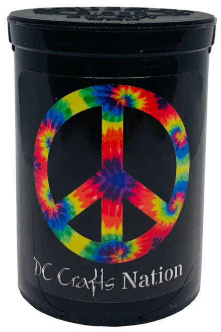 Tie Dye Peace Symbol Fresh Kettle Child Resistant Container