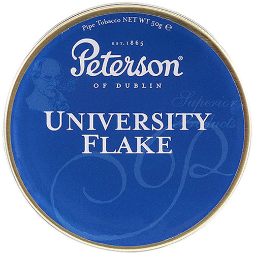 Peterson University Flake Pipe Tobacco   1.75 OZ TIN