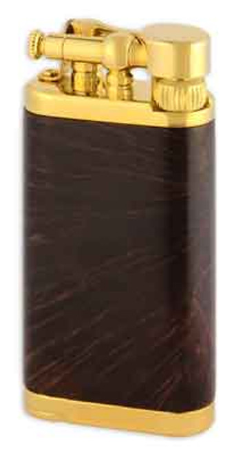IM Corona Old Boy Chestnut Smooth Briar with Gold Plate Lighter
