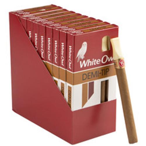 White Owl Demi Tip Cigars (10 Packs Of 5) - Natural