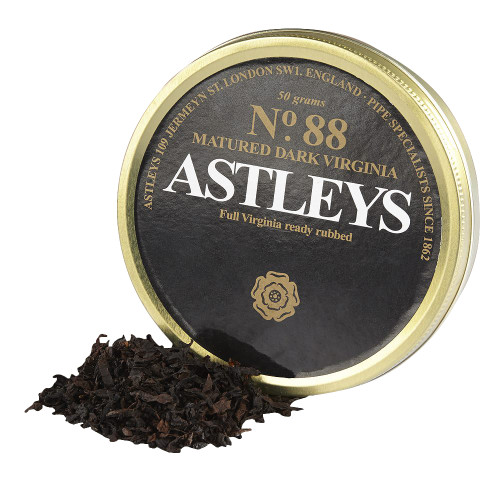 Astleys No. 88 Matured Dark Virginia Pipe Tobacco | 1.75 OZ TIN