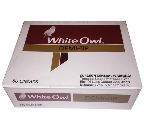 White Owl Demi Tip Cigars (Box of 50) - Natural