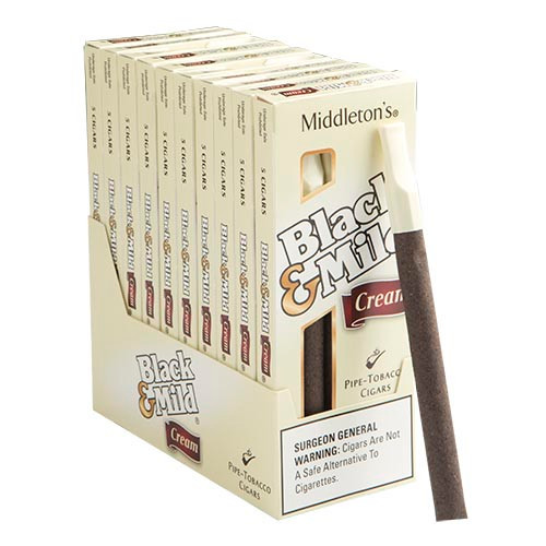 Black and Mild Cream Cigars (10 packs of 5) - Natural