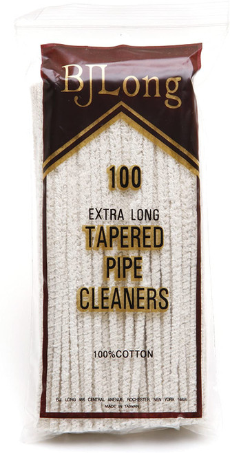 BJ Long Extra Long Tapered Pipe Cleaners (Pack of 100)
