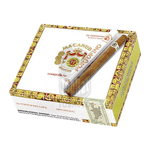 Macanudo Portofino Tubed Cigars - 7 x 34 (Box of 25)