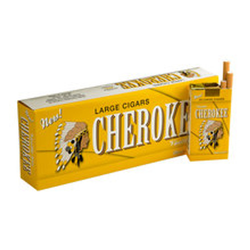 Cherokee Filtered Vanilla Cigars (10 Packs of 20) - Natural