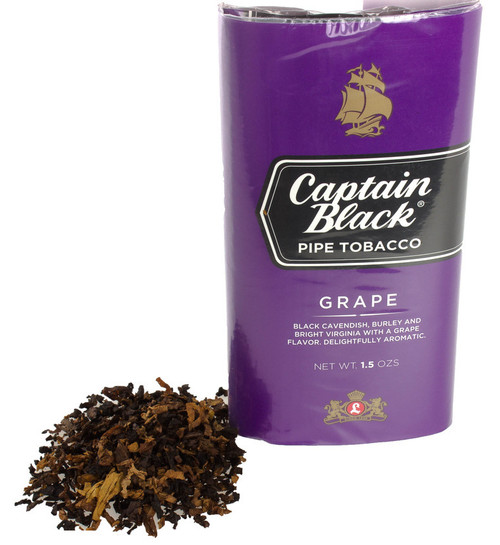 Captain Black Grape Pipe Tobacco | 1.5oz POUCH  - 6 COUNT