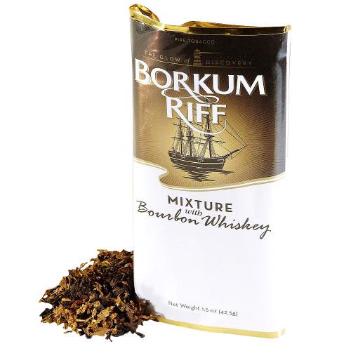 Borkum Riff Bourbon Whiskey Pipe Tobacco | 1.5 OZ POUCH  - 5 COUNT