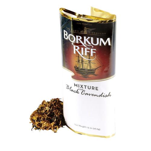 Borkum Riff Black Cavendish Pipe Tobacco | 1.5 OZ POUCH  - 5 COUNT