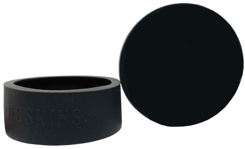 DC Skins Snuff Covers - Waterproof Protective Skins for Dip and Chew Cans - Black