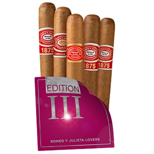 Cigar Samplers Romeo y Julieta Lovers Edition III (Pack of 5)