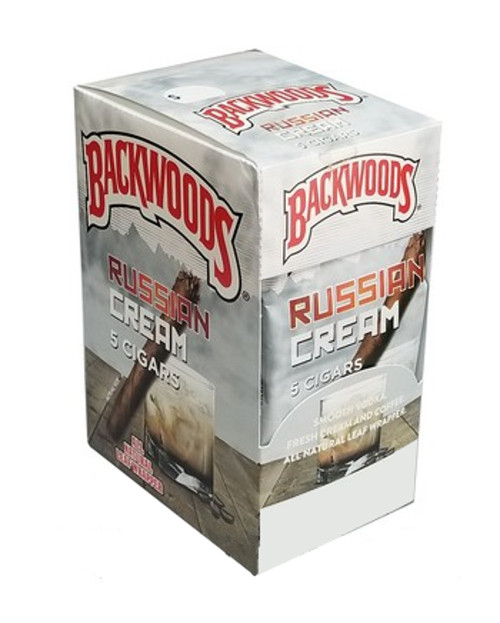 Backwoods Russian Cream Cigars (8 Packs of 5) - Natural