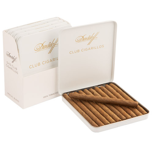 Davidoff Cigarillos and Small Cigars - Club Cigarillos Cigars - 4 x 23 (5 Packs of 10)