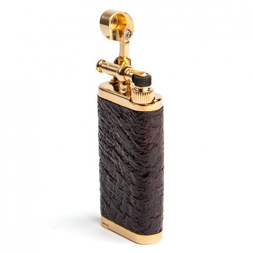 IM Corona Old Boy Sand Blast Briar with Gold Plate Lighter