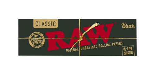 Raw Black 1 1/4 Rolling Papers 1ct FRESH