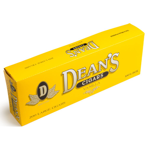 Dean's Filtered Cigars Vanilla Cigars - 3.87 x 20 (10 Packs of 20 (200 Total))