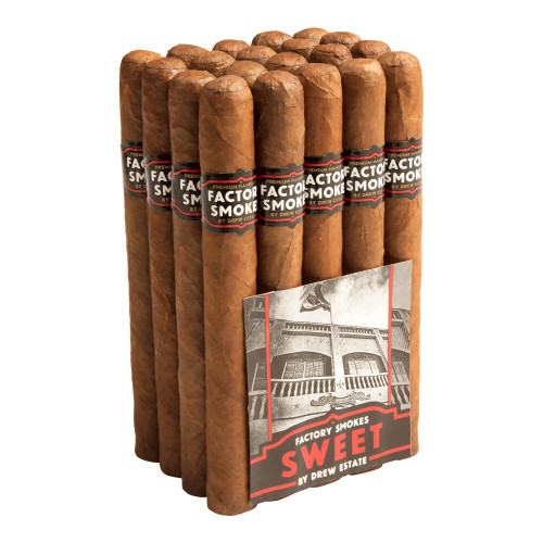 Factory Smokes by Drew Estate Churchill Sweets Cigars - 7 x 52 (Bundle of 20)