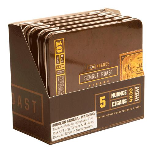 Nub Nuance Single Roast Tins Cigars - 4 x 30 (5 Tins of 10 (50 Total))