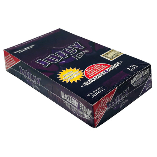 Juicy Jay's Blackberry Brandy 1.25 Flavored Hemp Rolling Papers Box