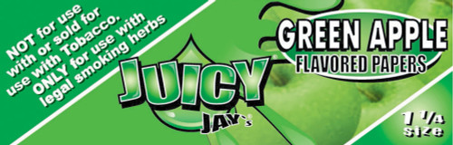 Juicy Jay's Green Apple 1.25 Flavored Hemp Rolling Papers Single