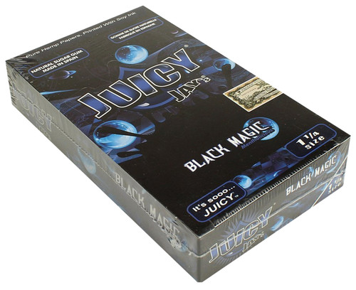 Juicy Jay's Black Magic 1.25 Flavored Hemp Rolling Papers Box