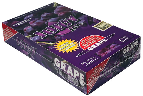 Juicy Jay's Grape 1.25 Flavored Hemp Rolling Papers Box