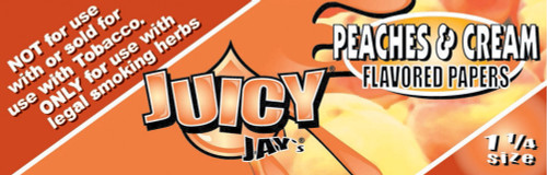 Juicy Jay's Peaches & Cream 1.25 Flavored Hemp Rolling Papers Single